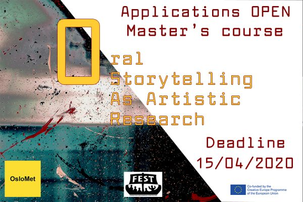MASTERS COURSE Oral Storytelling
